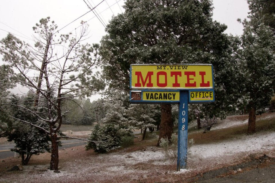 One of the many motels that become our home in the small towns we pass.
