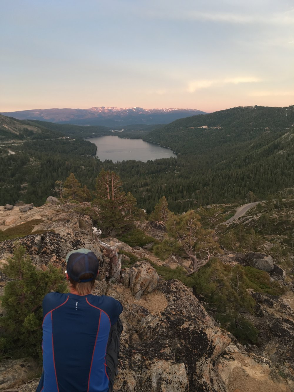 Noel looking out over Donner Lake.