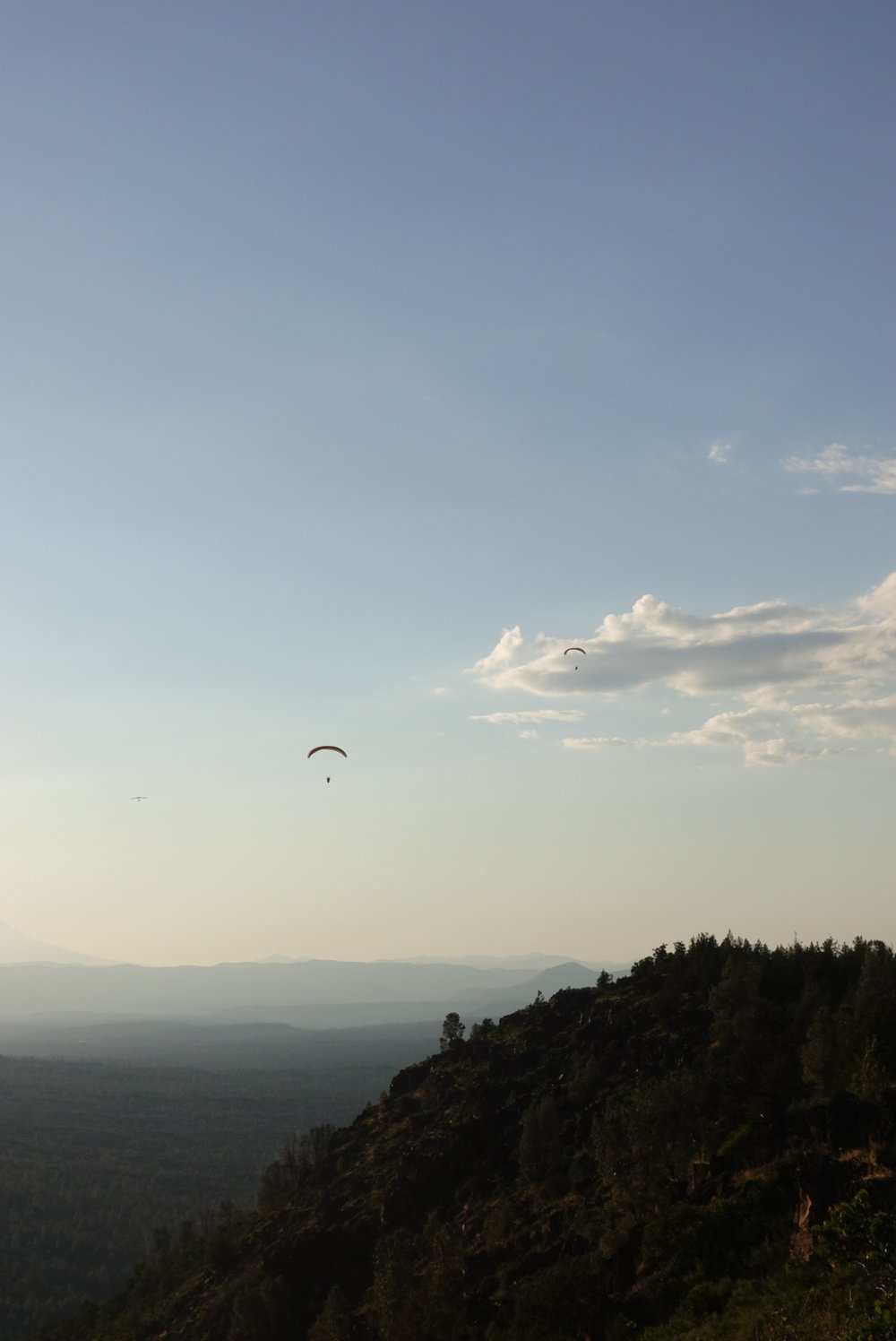 Just as the sun was setting we saw over 30 paragliders taking off up into the sky.