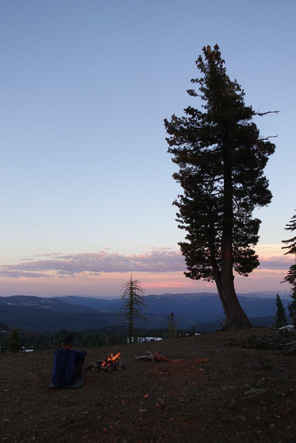 Campsite up on the ridge.
