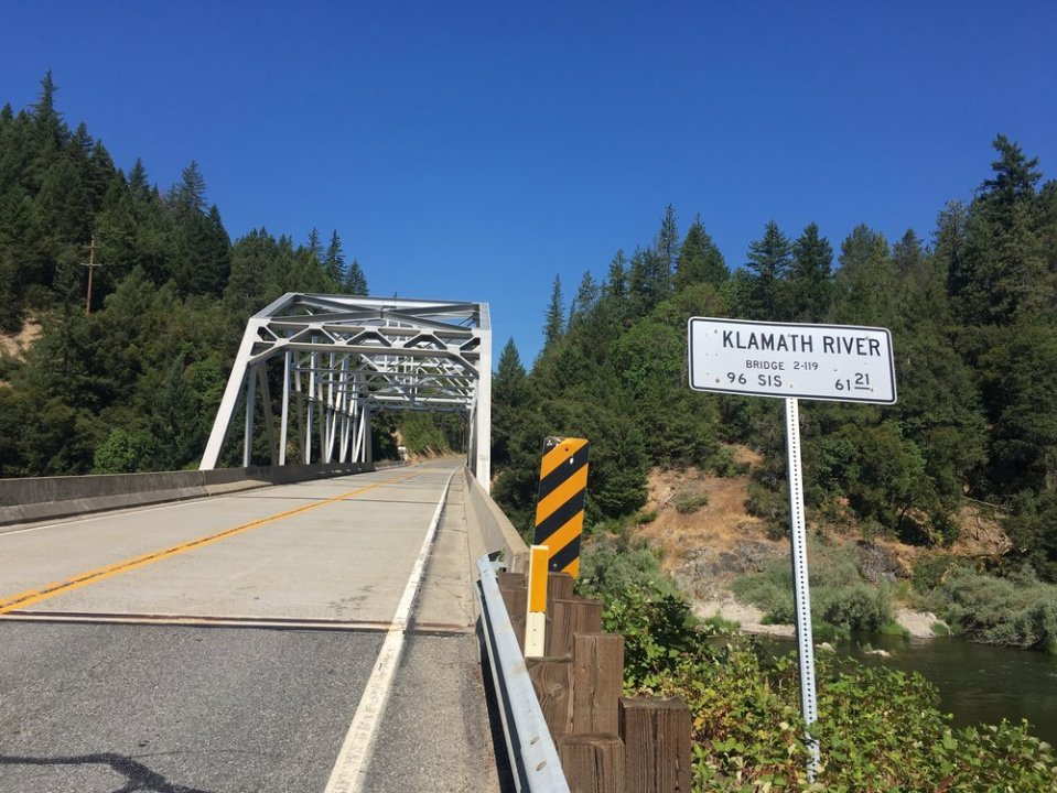 Crossing the Klamath river, walking into Seiad Valley.