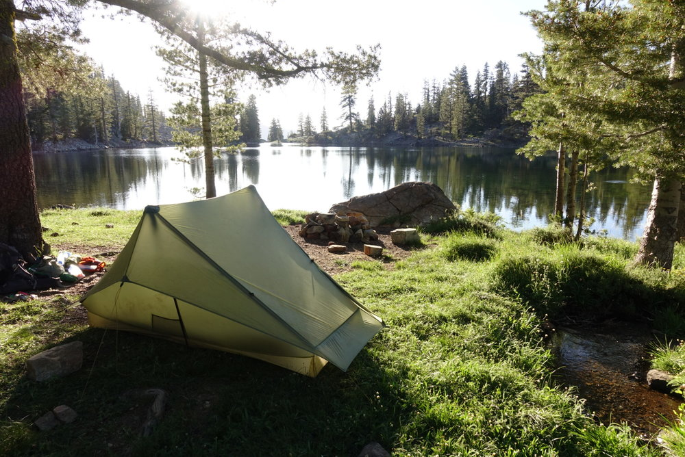 Camp by Lower Deadfall Lake.