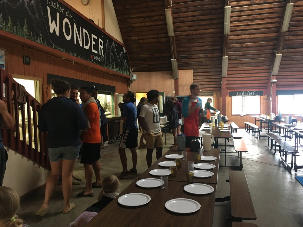 Dinner at the Youth Camp.