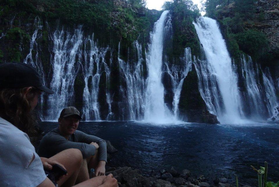Simba and Snorkel at Burney Falls.
