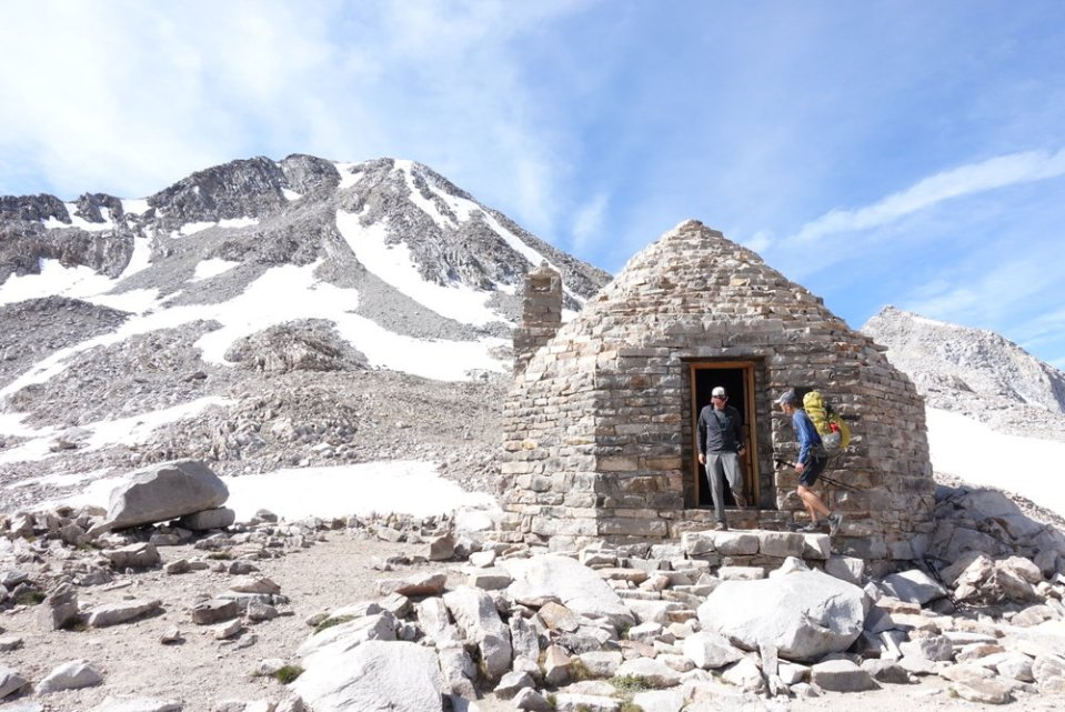 Muir hut.  One of the High Sierra passes.