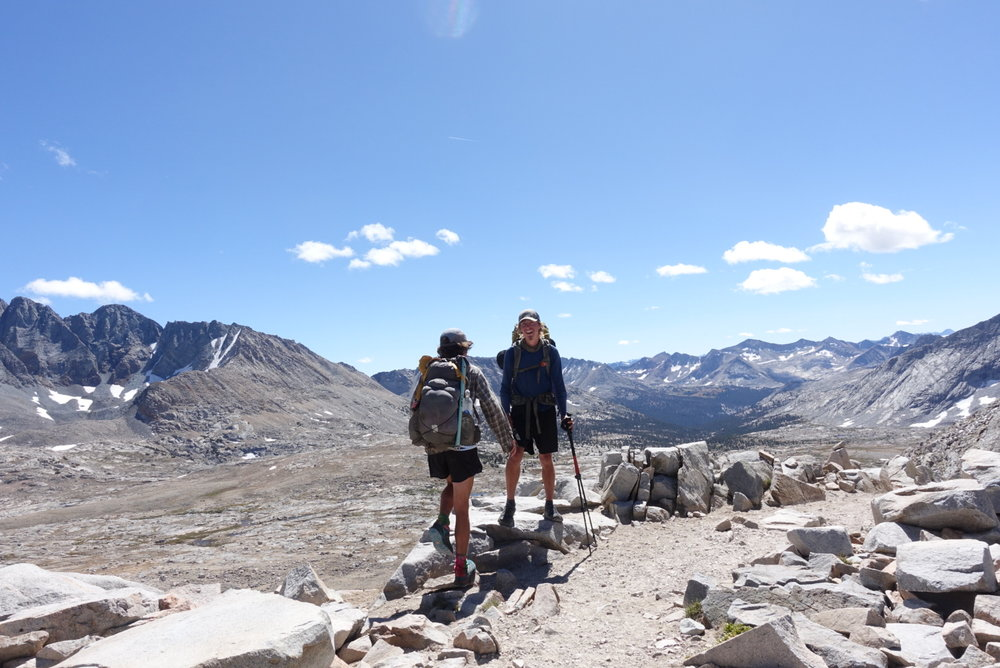 One of many failed photos on top of Mather Pass.